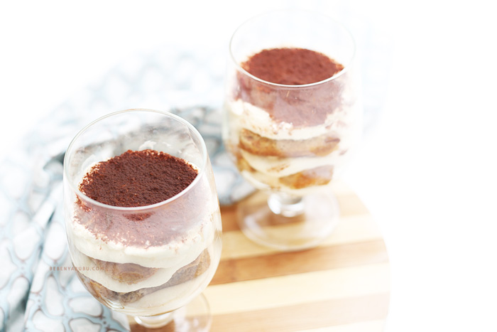 Eggless & Alcohol Free Tiramisu