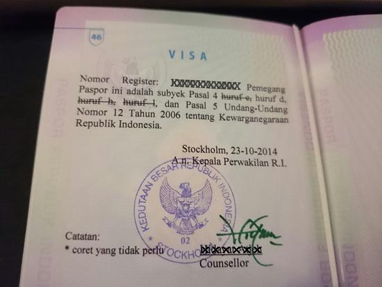 keterangan di paspor